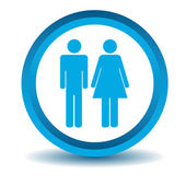 Man woman icon blue 3D