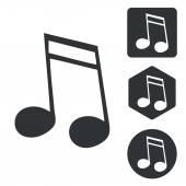 Music icon set 2 monochrome