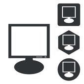 Monitor icon set monochrome