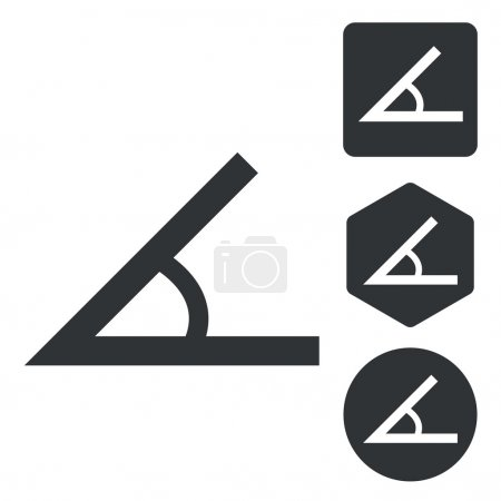 Angle icon set, monochrome