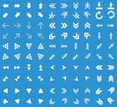 Arrows icon set blue