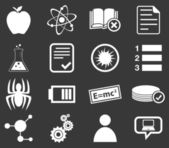 Science icon set 1 monochrome