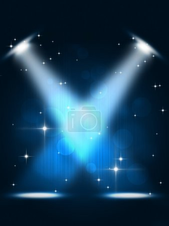 Photo for Party spotlights music background for flyers and nightclub posters - Royalty Free Image
