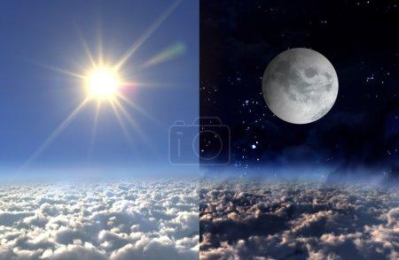 Sun light day and moon night