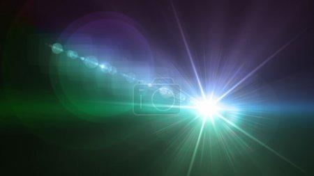 Photo pour Thème lumière & flare flash peut être utilisé en mode, concert, spectacle, match de sport - image libre de droit