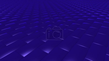 3D abstract Navy blue brick