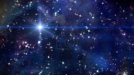 Photo pour Ciel nocturne beauté avec fond étoilé dans l'espace - image libre de droit
