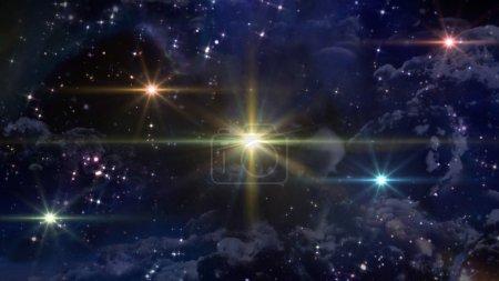 Photo pour Le mystère des étoiles qui brille dans la nuit étoilée - image libre de droit