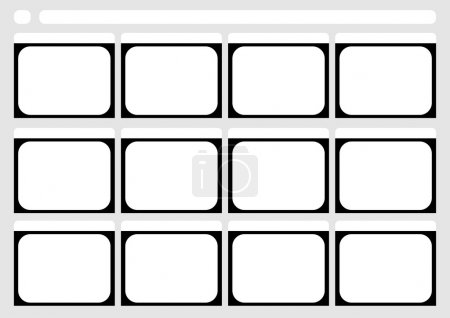 Traditional television 12 frame storyboard template
