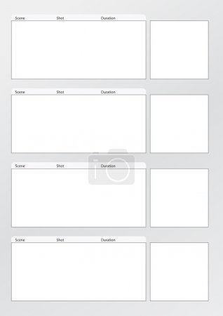 Film storyboard template vertical x4