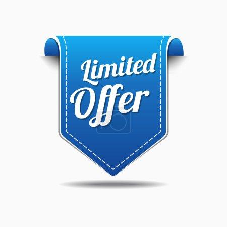 Illustration pour Offre limitée dans le temps Blue Vector Icon Design - image libre de droit