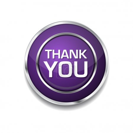 Illustration for Thank You Purple Circular Vector Button - Royalty Free Image