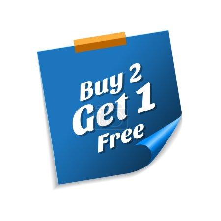 Buy 2 get 1 free Blue Sticky Notes
