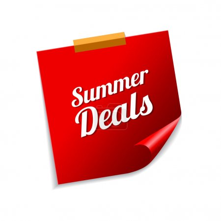 Summer Deals Red Sticky Notes