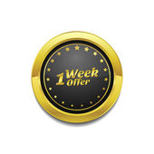 1 Week Offer Vector Icon Design