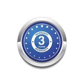 3 Years Warranty Icon Design