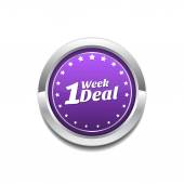 1 Week Deal Vector Icon Design