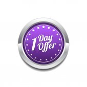 1 day Offer Vector Icon Design