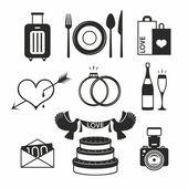 Wedding set icon