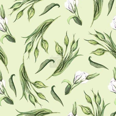 Photo pour Délicat motif floral d'été - image libre de droit