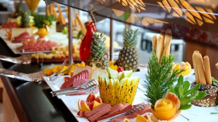 Photo for Buffet Catering Food Arrangement on Table. - Royalty Free Image