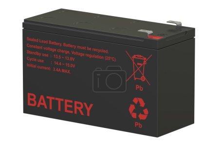 Sealed UPS batteries; 3D rendering