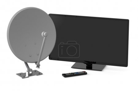 TV et antenne parabolique