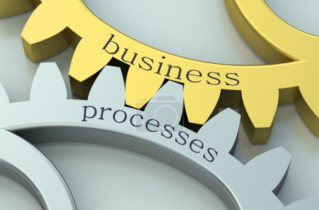 Business Processes concept on the gearwheels