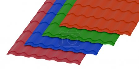 Corrugated slates sheets for roofing
