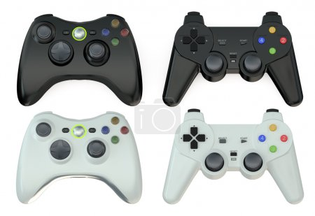 set of gamepads