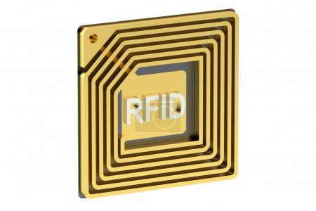RFID tag isolated on white background...