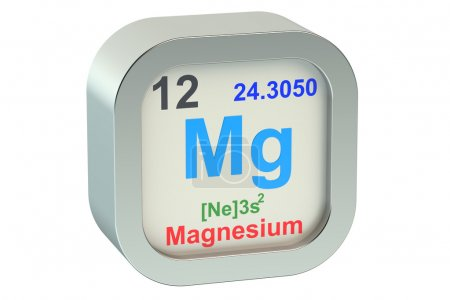 Photo for Magnesium element isolated on white background - Royalty Free Image