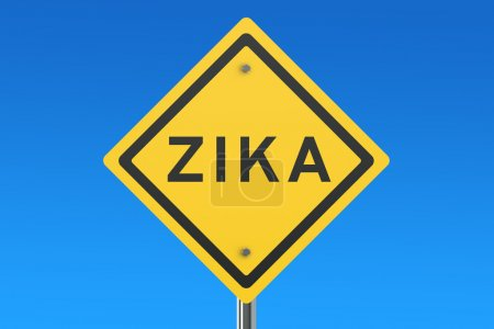 Photo for Zika virus sign isolated on blue sky - Royalty Free Image