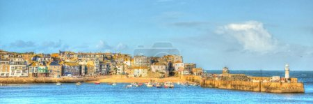 Photo pour St Ives Cornwall Royaume-Uni port dans hdr coloré lumineux - image libre de droit