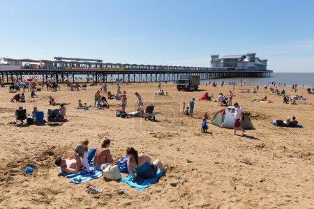 WestonsuperMare beach and pier Somerset
