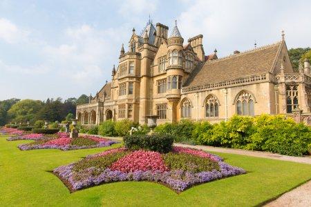 Beautiful flower gardens Tyntesfield House near Bristol England UK a Victorian mansion in the late summer sunshine