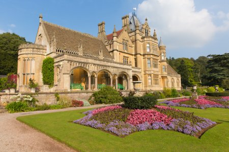 Beautiful flower gardens Tyntesfield House near Wraxall North Somerset England UK a Victorian mansion in the late summer sunshine
