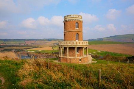 Dorset landmark of Clavell Tower overlooking Kimmeridge Bay east of Lulworth Cove on the Dorset coast England uk