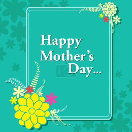 Illustration for Vector illustration of Happy Mothers Day celebration background - Royalty Free Image