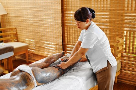 Body Care. Spa Treatment. Woman Mask Beauty Salon. Skin Therapy