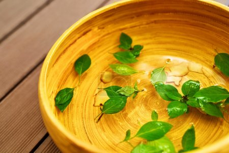 Spa Body Treatment. Foot Basin, Bowl. Skin Care Massage Therapy