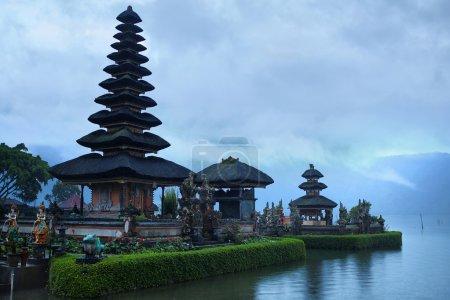 Bali, Indonesia. Landscape Of Pura Ulun Danu Bratan Temple
