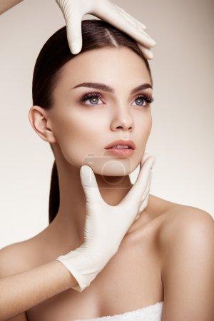 Woman before Plastic Surgery Operation Cosmetology