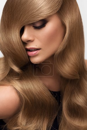 Photo for Hair. Portrait of beautiful Blonde with Long Wavy Hair. High quality image. - Royalty Free Image