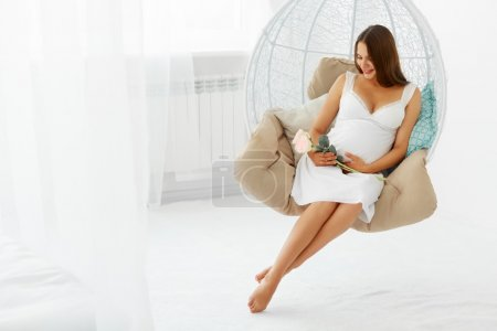 Photo for Portrait of the Happy Pregnant Woman. - Royalty Free Image