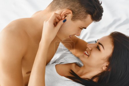 Portrait of couple loving each other.