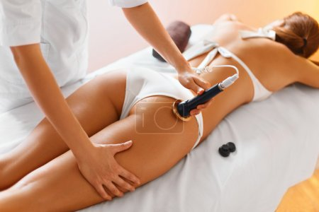 Body care. Ultrasound cavitation treatment. Anti-cellulite and a