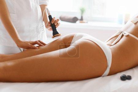 Body care. Ultrasound cavitation body contouring treatment. Anti