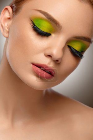 Face Beauty. Fashion Woman With Makeup Portrait. High Quality Im