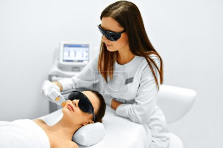 Skin Care. Face Beauty Treatment. IPL. Photo Facial Therapy. Ant